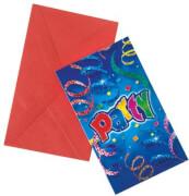 Party Streamers Einladungskarten & Umschläge