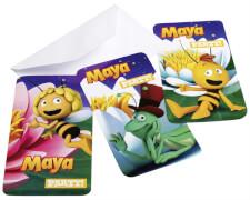 6 Einladungskarten Biene Maja mit Umschlägen
