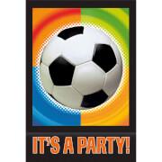 8 Einladungskarten Championship Soccer mit Umschlägen