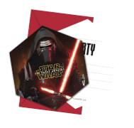 Star Wars Force Awakeness Einladungskarten 6 Stück
