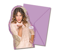 Disney Violetta Einladungskarten & Umschläge 6 Stück