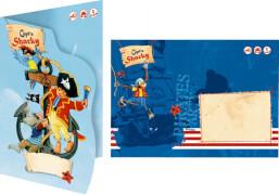 Einladungskarten Capt'n Sharky (8 St.)