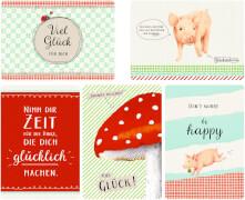 Karten-Set Viel Glück (12 Postkarten)