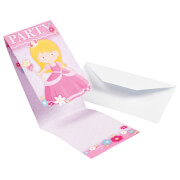 8 Einladungskarten My Princess mit Umschlägen