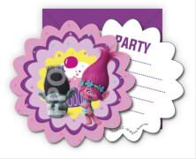 Trolls Einladungskarten & Umschläge 6 Stück