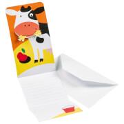 8 Einladungskarten Farm Fun