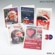 Depesche 8696 3D Weihnachtsklappkarten, 16,6  x 11,5 cm