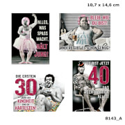 Depesche 8143 Undercover Klappkarten, klein  mit 13 Motiven Zahlenkarten