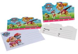 Einladungskarten Paw Patrol pink, A6 +
