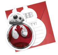 Star Wars Episode 8 Einladungskarten inklusive Umschläger  6 Stück