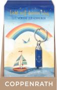 TA Grußkarte zur Kommunion m.Taschenlampen-Anh. (Blau/Anker)