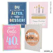 Depesche 10269 Zahlengeburtstagskarten Happy  Birthday