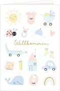 Grußkarten Meine kleine Welt - Willkommen! (6 x 4 Ex.)