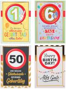Zahlen-Geburtstagskarten