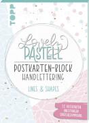 Pastell Postkarte Block Lines
