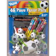 Partygeschenke-Set Championship Soccer 48-teilig
