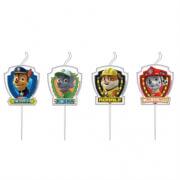 4 Mini-Figurenkerzen Paw Patrol