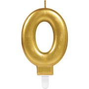 Zahlenkerze 0 Sparkling Celebrations Gold