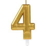 Zahlenkerze 4 Sparkling Celebrations Gold