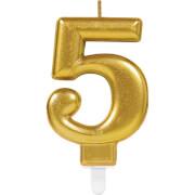 Zahlenkerze 5 Sparkling Celebrations Gold