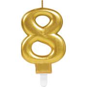 Zahlenkerze 8 Sparkling Celebrations Gold