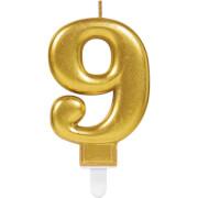 Zahlenkerze 9 Sparkling Celebrations Gold