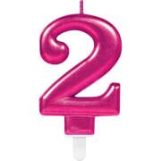 Zahlenkerze 2 Sparkling Celebrations Pink