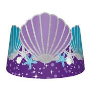 8 Papierkronen Mermaid Wishes