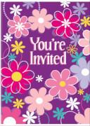 Happy Birthday Blossom Einladungskarten 8 Stück