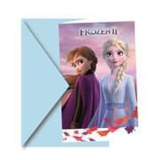 Disney Forzen Die Eiskönigin 2 Einladungskarten, 6 Stück