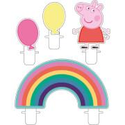 4 Mini-Figurenkerzen Peppa Pig