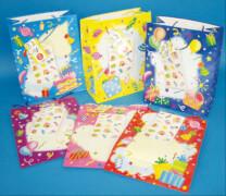 Geburtstagstüte ca. 30 x 25 cm mit Stickern