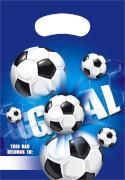 Fußball blau Partytüten 6 Stück