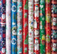 Geschenkröllchen Premium Bambini Weihnachten 2 m x 70 cm, 80 g