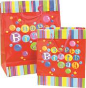 Geschenktüte Happy Birthday rot groß