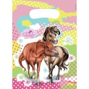 6 Partytüten Charming Horses 2