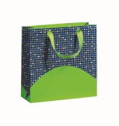 Tragetasche Spotty Dotty grün/blau Midi
