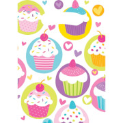6 Partytüten Cupcake