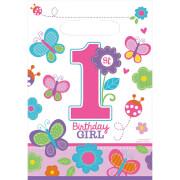 8 Partytüten Sweet Birthday Girl