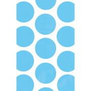 10 Papiertüten Polka Dot azurblau 11,3 x 17,7 cm