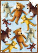 Geschenkpapier-Bogen - Teddybären