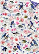 Geschenkpapier-Bogen - Paradiesvögel (B.