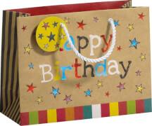 Geschenktragetasche Happy Day Midi, Größe B225 x T092 x H170mm