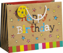 Geschenktragetasche Happy Day Maxi, Größe B335 x T135 x H260mm