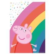 8 Partytüten Peppa Pig Papier 23,4 x 16,2 cm