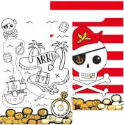 8 Papiertüten Pirates Map Papier