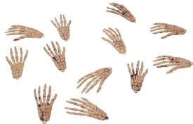 Knochenhände, 8 cm (6 Paar im Btl.) orgi