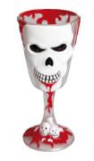 Horrorweinglas Totenkopf, 18cm