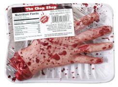 Hand verpackt Chop Shop Halloween-Deko Meat Market 20,3 x 14 x 5 cm