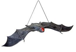 Fledermaus mit Gummiband, ca. 30 cm schwarz